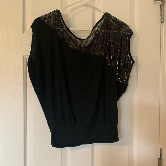 Windsor Tops - Windsor- off the shoulder sequin top